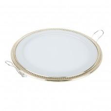 Встраиваемый светильник DLR006 12W 4200K PS/G перламутровый серебро/золото