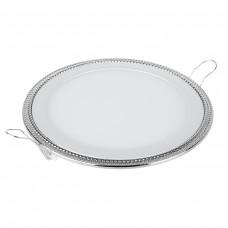 Встраиваемый светильник DLR006 12W 4200K PS/N перламутровый серебро/никель