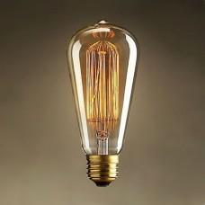 Лампа ES ST64 E27 60W Ретро лампа Эдисона