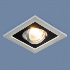 Точечный светильник 1031/1 SL/BK серебро/черный