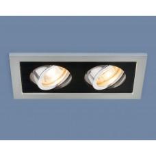 Точечный светильник 1031/2 SL/BK серебро/черный
